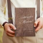 20 Wooden & Wood Effect Wedding Invitations
