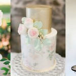 Floral Print Wedding Cakes