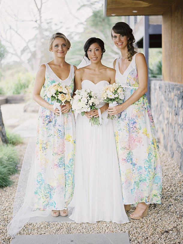 Floral Print Bridesmaid Dresses SouthBound Bride Impressive Floral Pattern Bridesmaid Dresses