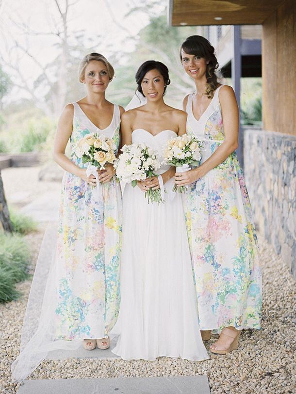 Floral Print Bridesmaid Dresses Southbound Bride