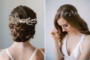 botanical floral bridal hair accessories etsy