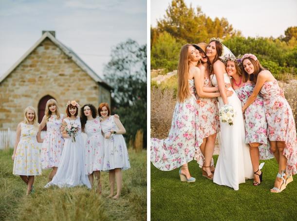 Floral Print Bridesmaid Dresses