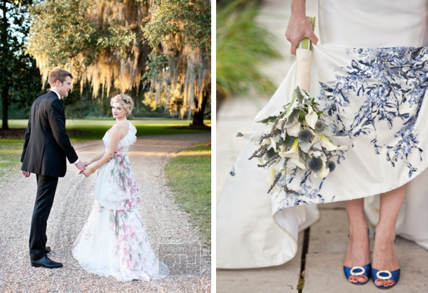 Floral Printed Wedding Dresses