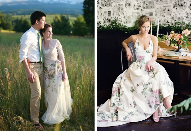 25 Floral & Flower Wedding Dresses | SouthBound Bride