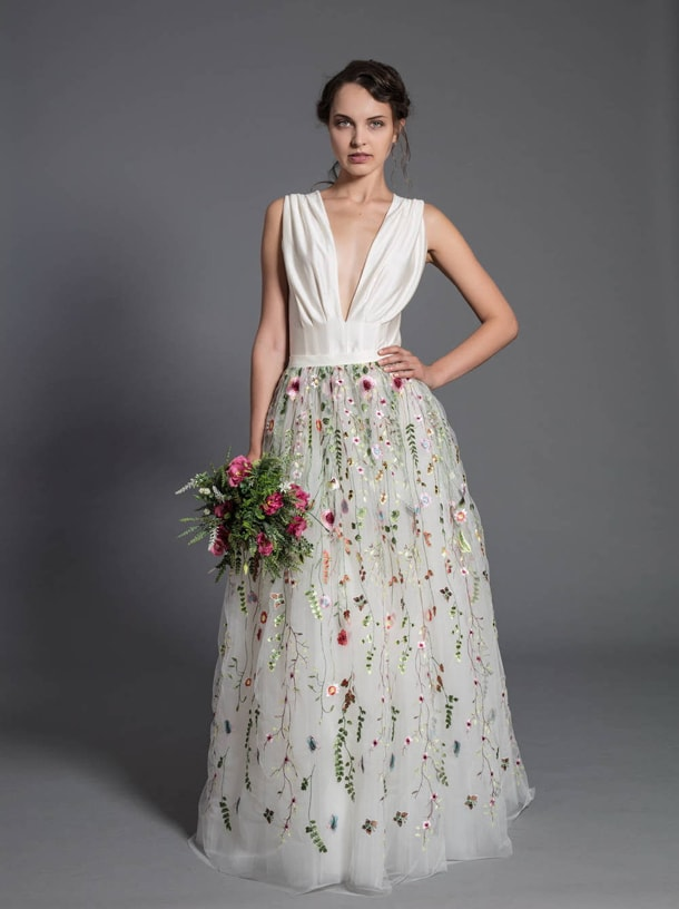 Floral Embroidered Wedding Dresses