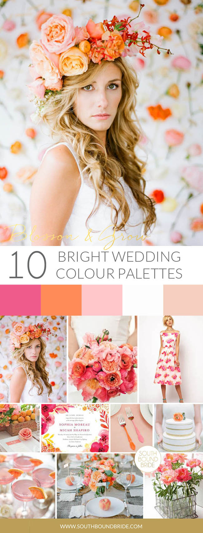 Blossom & Grow Colorful Wedding Palette