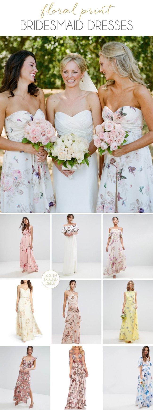 Floral Print Bridesmaid Dresses | SouthBound Bride
