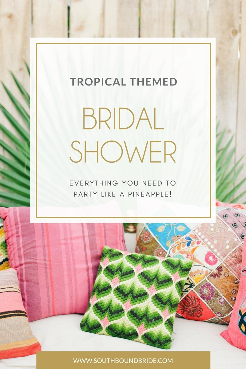 Tropical Themed Bridal Shower Invitations & Ideas | SouthBound Bride
