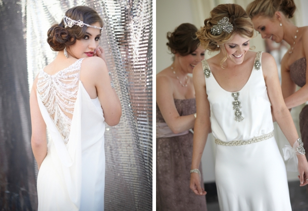 Great Gatsby 1920s Art Deco Wedding Dresses Southbound Bride