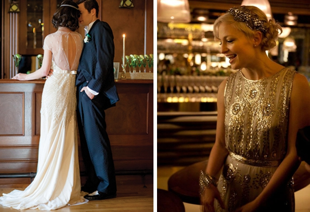 Great Gatsby 1920s Art Deco Wedding Dresses | SouthBound Bride