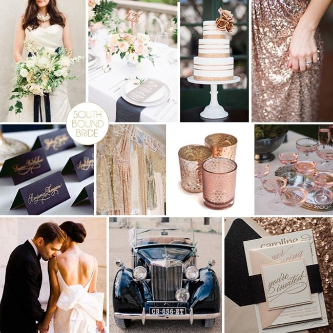 Navy & Rose Gold Wedding Inspiration