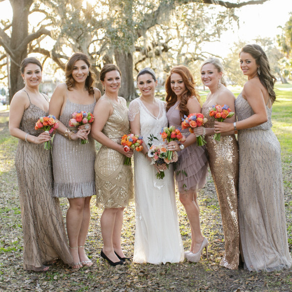 10 Ways To Rock Sequin Bridesmaid Dresses At Your Wedding Southbound Bride
