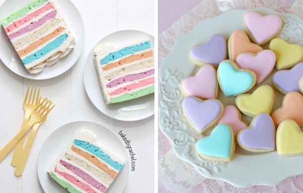 Pastel Layer Cake & Pastel Cookies