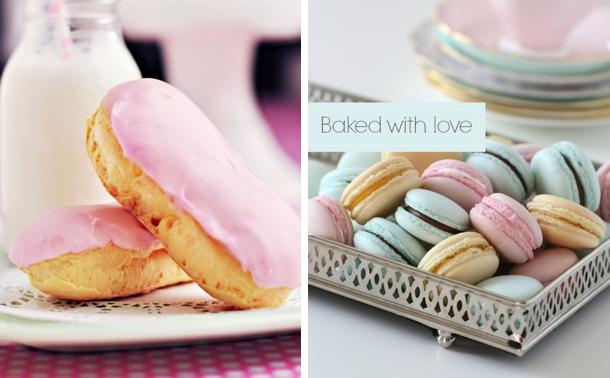 Pastel Eclairs & Pastel Macarons