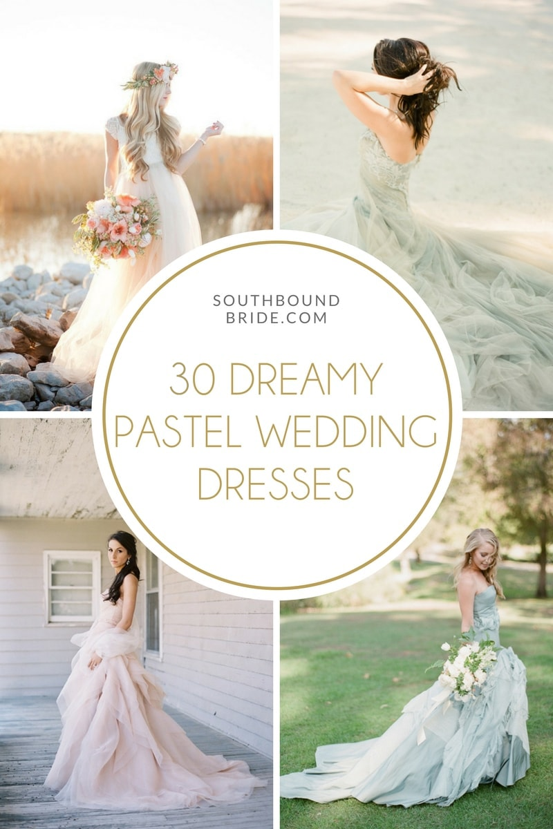 20 Dreamy Pastel Wedding Dresses | SouthBound Bride