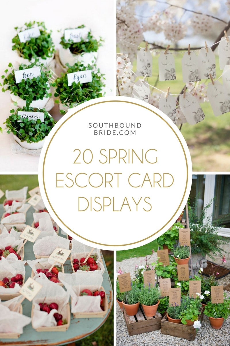 20 Escort Card Displays & Table Plans for Spring Weddings | SouthBound Bride