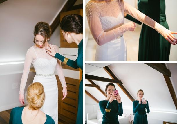Elegant Winter Town Hall Wedding By Dearheart Photos