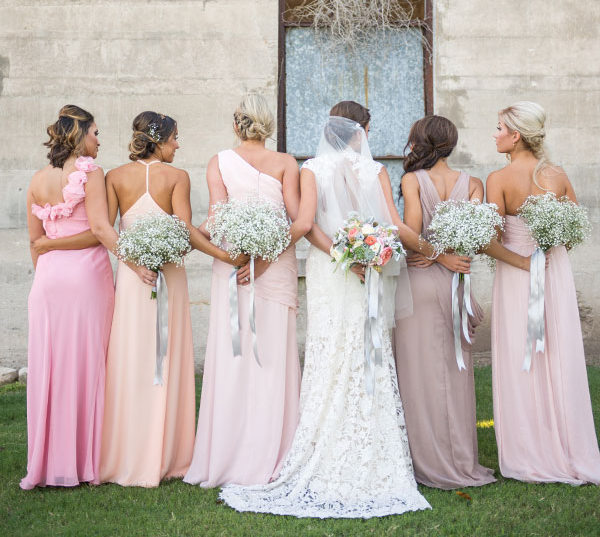 Long Pastel Bridesmaid Dresses | SouthBound Bride