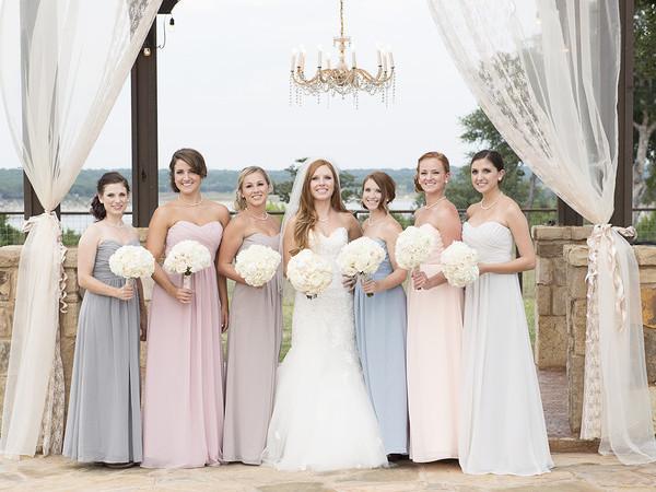 Pastel Lace Bridesmaid Dresses