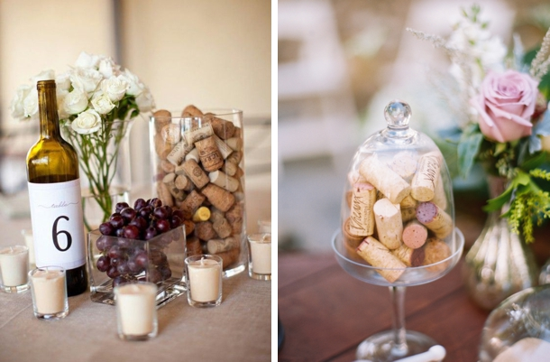 8. Cork Centrepieces. There Are Loads Of Ways To Use Corks In Your Decor,  But Who Would Have Thought That Having A Vase Or Cloche Full Of Them Was So  ...