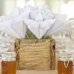 Elegantly Rustic Paper Flower Wedding by As Sweet As Images
