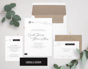 Printable Travel Theme Wedding Invitations