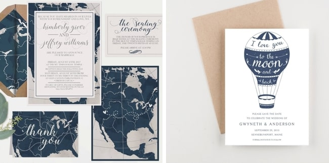 Hawthorn Suite Printable Travel Wedding Invitations By Notable Paper Co