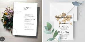 Printable Travel Theme Wedding Invitations