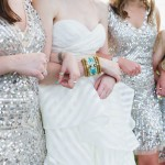 Silver Sparkle Bridesmaid Dresses