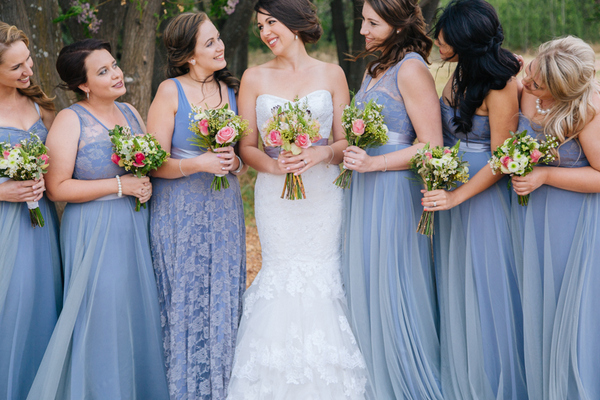 Serenity Blue Bridesmaids Dresses