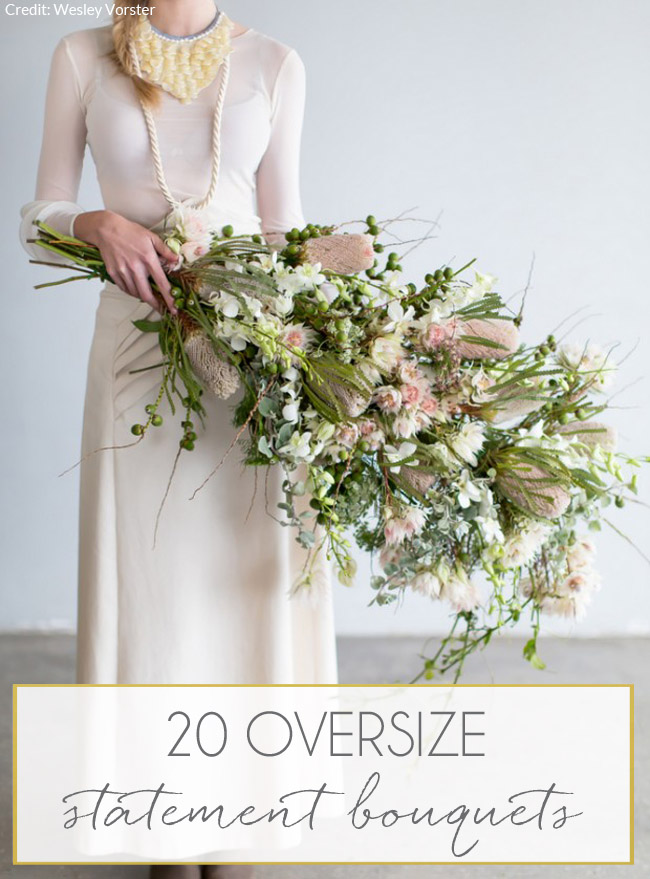 20 oversize statement wedding bouquets southbound bride for Big bouquets of flowers