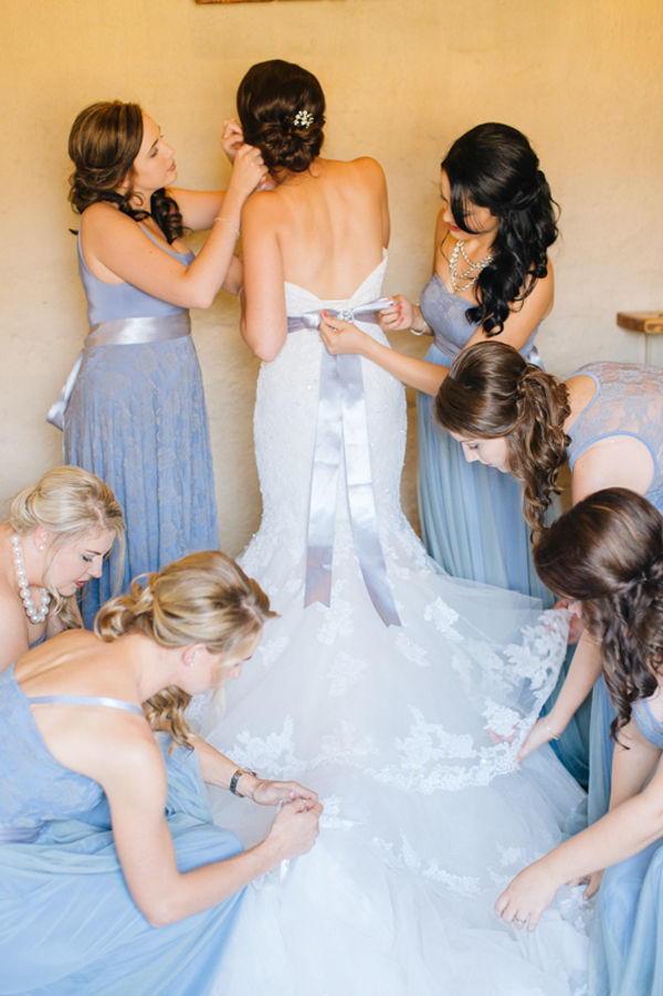 Maggie Sottero Wedding Dress with Serenity Blue Ribbon