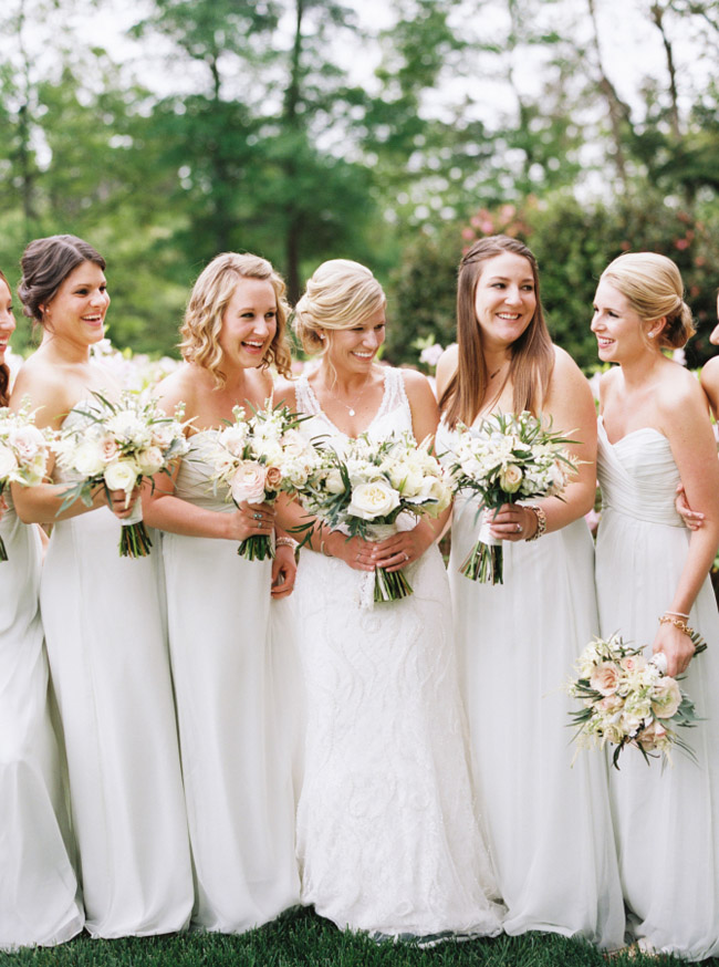 White Bridesmaid Dresses Trend