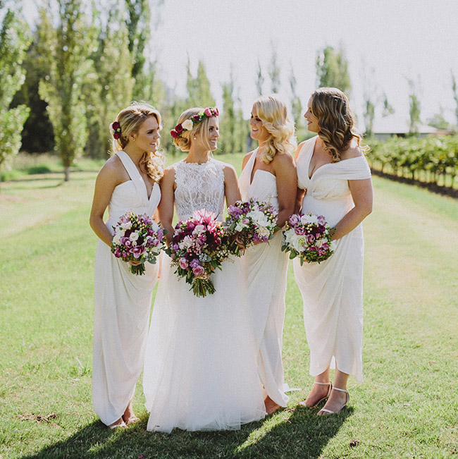 White Bridesmaid Dresses Pinterest