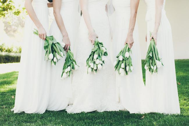 White Tulip Bouquets