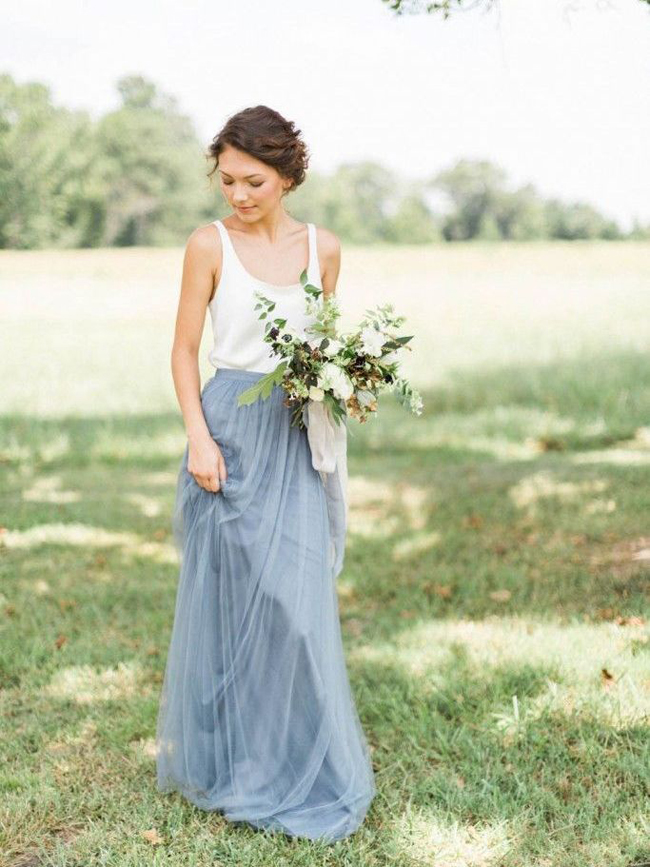 005 Pantone Serenity Bridesmaid Dresses