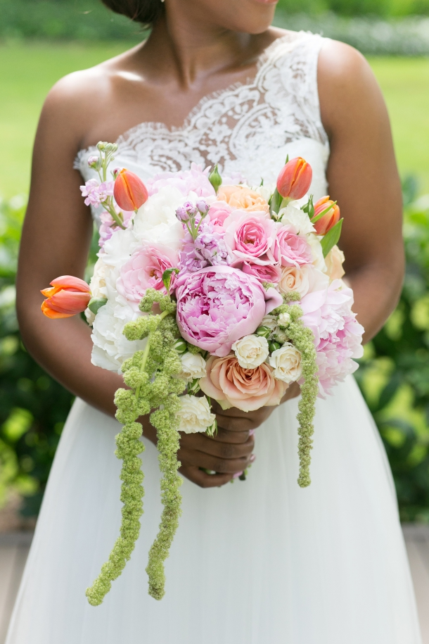 Peonie and Tulip Bridal Bouquet