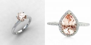 ROMANTIC MORGANITE ENGAGEMENT RINGS