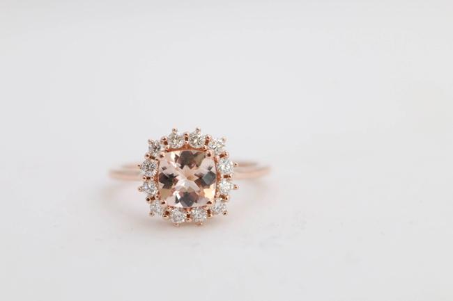 Morganite Engagement Rings with Diamonds