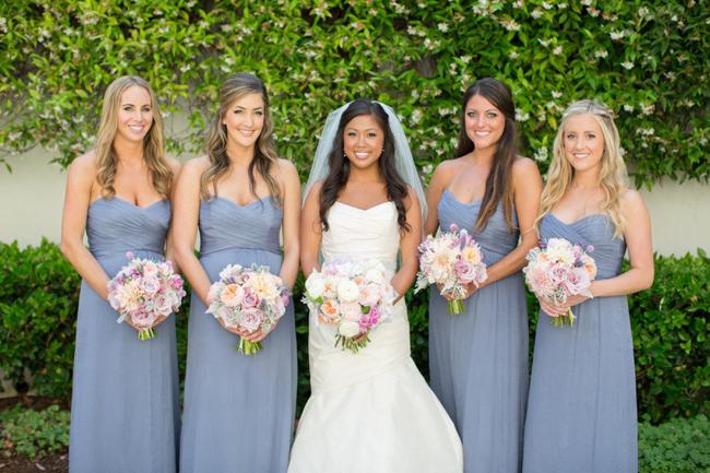 Slate Blue Bridesmaid Dress - Ocodea.com