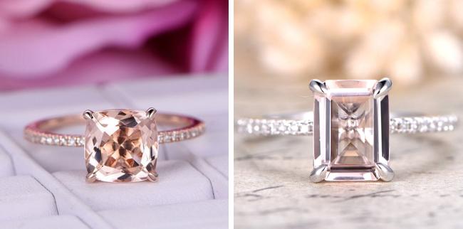 Engagement Rings with Morganite