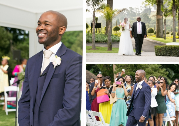 Groom in Classic Navy and White Tuxedo