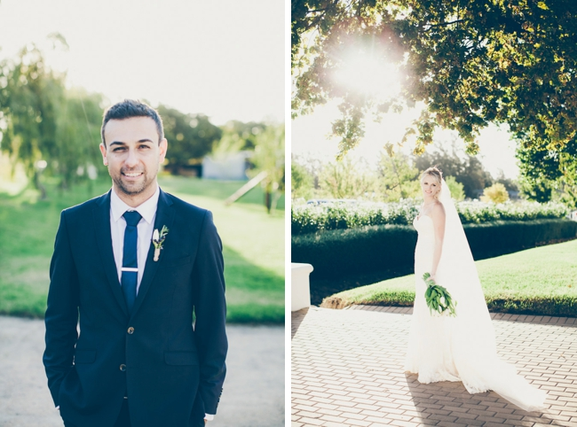 Bride and Groom Wedding Portraits by Fiona Clair