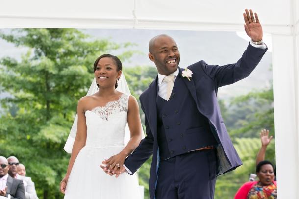 White One-shoulder Lace Wedding Dress