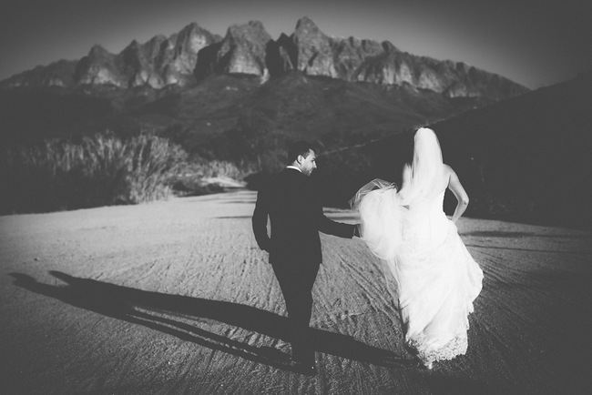 Classic Black and White Wedding Portrait by Fiona Clair Photography