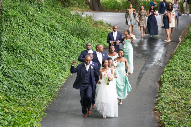 Navy and Mint Bridal Party