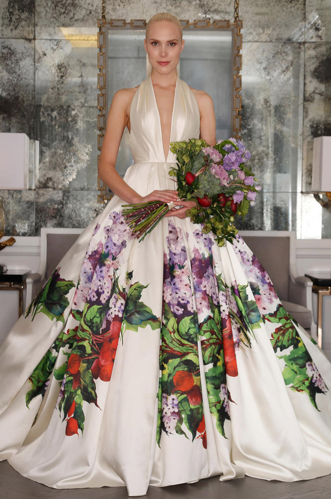 Top 10 wedding dress trends for 2016 southbound bride for Floral wedding dresses 2017