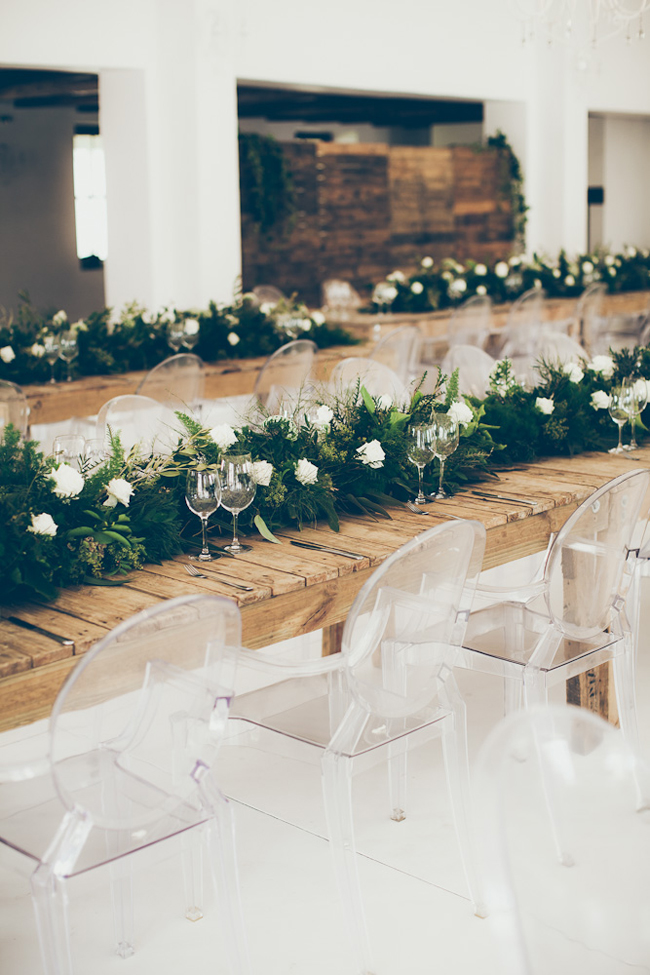 Rustic Green and White Garlands