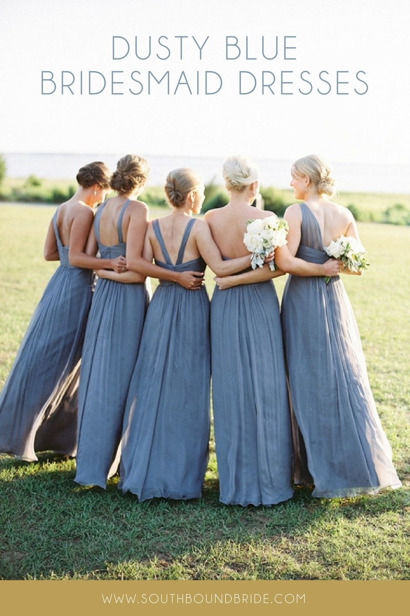 Dusty Blue Bridesmaid Dresses | SouthBound Bride