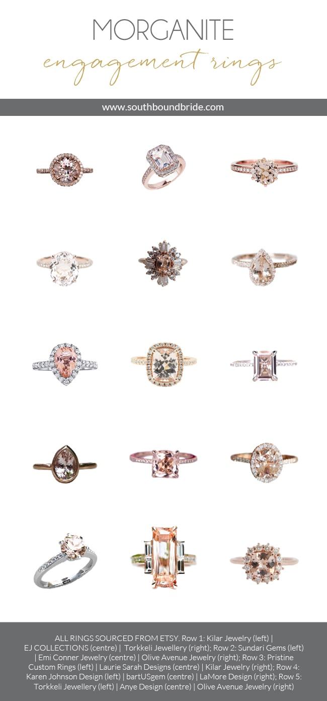 15 Romantic Morganite Engagement Rings